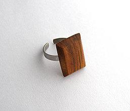 Prstene - Čerešňový obdĺžniček - 6710754_