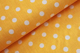 Úžitkový textil - Sýtožltá s väčšími bodkami - 6713049_