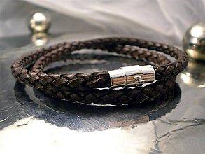 Šperky - Na krk - kožený hnedý 5 mm - 6714395_