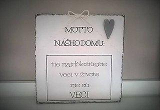"Tabuľky - tabuľka ""motto domu"" - 6714709_"