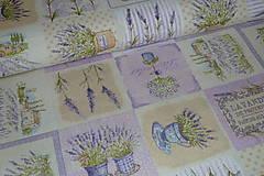 Textil - Lavander patchwork - 6715089_