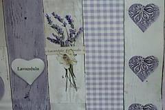 Textil - Látka Levanduľa a gombíky digi - 6715196_
