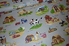 Textil - Látka Zvieratká na farme - 6715360_