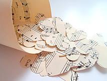 Papiernictvo - Svadobné konfety melody - 6714413_
