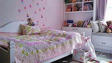 """Úžitkový textil - Dievčenský patchworkový prehoz """"kvetinková lúka"""" - 6713293_"""