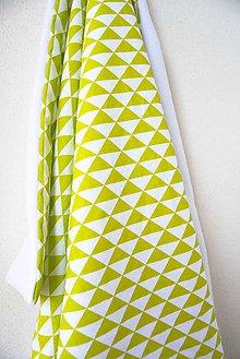 Textil - _BUVI... limetková & biela... deka pre najmenších ♥ - 6717170_