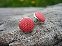 - Náušnice Buttonky Červené - 6719841_
