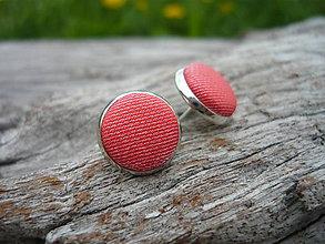 Náušnice - Náušnice Buttonky Červené - 6719841_