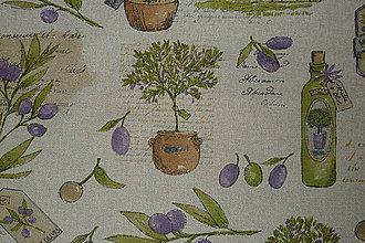 Textil - Látka Olivový olej na režnej - 6719397_