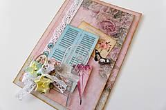 Papiernictvo - pohľadnica vo vintage štýle - 6715878_