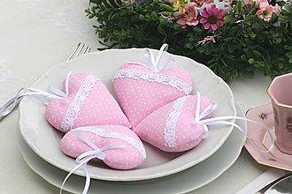 Darčeky pre svadobčanov - Ružové srdiečka - 6716084_