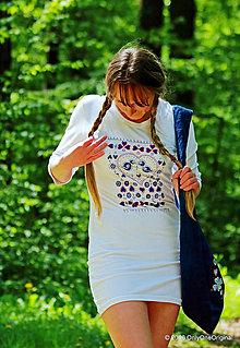 Šaty - Dámske mini šaty maľované, folk SLÁVIČEK - 6716315_