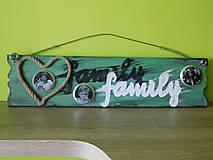 tabuľka family s fotkami