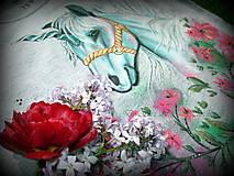 Tričká - Jednorožec s kvetmi - 6720204_