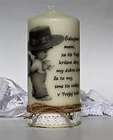 Dekoračná sviečka s mottom - Deň matiek