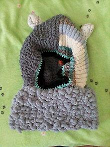 Detské čiapky - Čiapka panda so šálom... - 6716564_