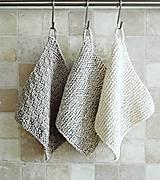 Úžitkový textil - Pletené chňapky - sivé I - 6716526_