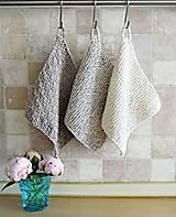 Úžitkový textil - Pletené chňapky - sivé I - 6716527_