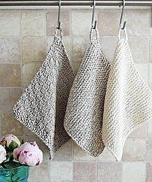 Úžitkový textil - Pletené chňapky - sivé I - 6716530_