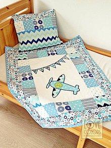 Textil - Fly away - chlapčenská patchworková babydeka - 6719117_