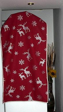 Úžitkový textil - Obrus vianočný - bordový - 6719368_