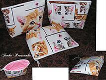 Taštičky - mačičky kozmetičky - 6715570_
