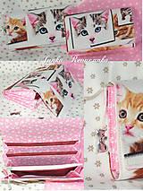 Taštičky - mačičky kozmetičky - 6715575_