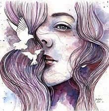 Obrazy - Sny o slobode, originál akvarel - 6716058_