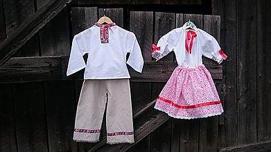 Detské súpravy - Obliekla som folklórny súbor - 6722663_