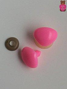 Komponenty - Bezpečnostné nosy trojúholníkové - 17x22mm ružové - 6723021_