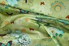 Textil - Látka Vintage na zelenej - 6721327_