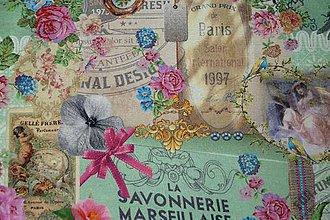 Textil - Látka La Savon. Marseillaise digi - 6721277_