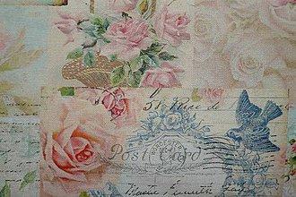 Textil - Látka Arte postale digi - 6721299_