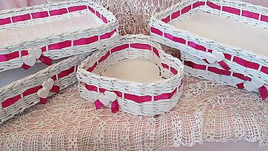 Košíky - Svadobné košíčky - Cyklamén - 6721929_