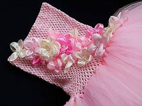 Detské oblečenie - jarná romantika - tylové šaty - 6722918_