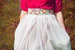 Sukne - Sukňa s vyšívaným pásom - 6723204_