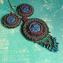 Sady šperkov - Aeshna affinis  - vyšívaná sada - 6720756_