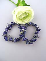 Náramky - lapis lazuli náramok zlomky 7-15mm - 6720837_