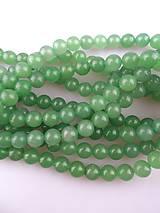 Minerály - korálky avanturín zelený 10mm - 6722690_