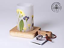 - Robustus Svietnik s kvetinovým tienidlom - jarné kvietky - 6722762_
