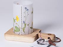 Svietidlá a sviečky - Robustus Svietnik s kvetinovým tienidlom - lúčne kvietky - 6723045_