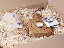 Svietidlá a sviečky - Robustus Svietnik s kvetinovým tienidlom - lúčne kvietky - 6723046_