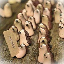Darčeky pre svadobčanov - Darčeky pre svadobných hostí, menovky - ježkovia - 6723104_