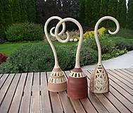 Svietidlá a sviečky - svietniky hnedasté - 6720726_