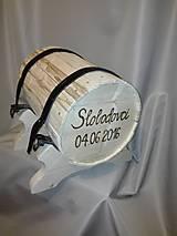 Darčeky pre svadobčanov - Svadobný súdok na obálky - 6724497_