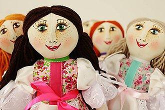 Bábiky - bábika Mara /malá retro / na želanie ,tvár maľovaná ,farebnosť na želanie - 6720365_