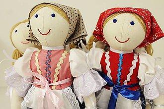 Hračky - bábika folk Mara /malá ľudová/ vyšívaná tvár ,farebnosť na želanie - 6720368_