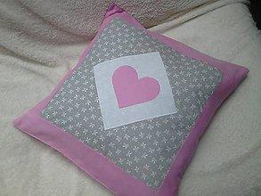 Úžitkový textil - obliečka sivo/ružová - 6725180_