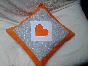 Úžitkový textil - obliečka sivo/oranžová - 6725227_