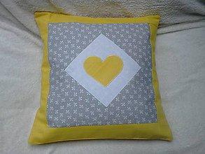 Úžitkový textil - obliečka sivo/žltá - 6725245_